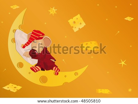 Sleeping mouse and the cheese country