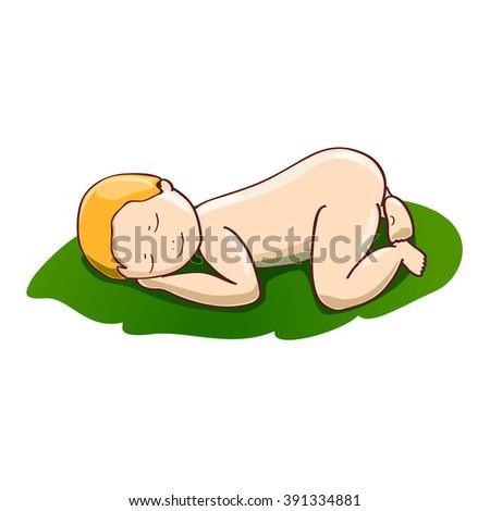 sleeping redhead baby