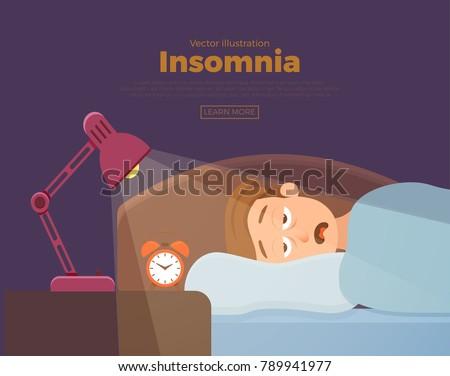 sleepless man face cartoon