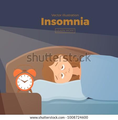 sleepless woman face cartoon