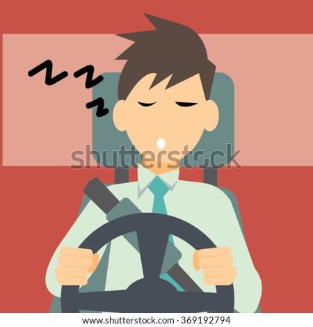 sleepy driver-vector