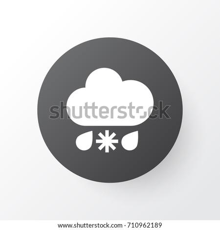 sleet icon symbol premium