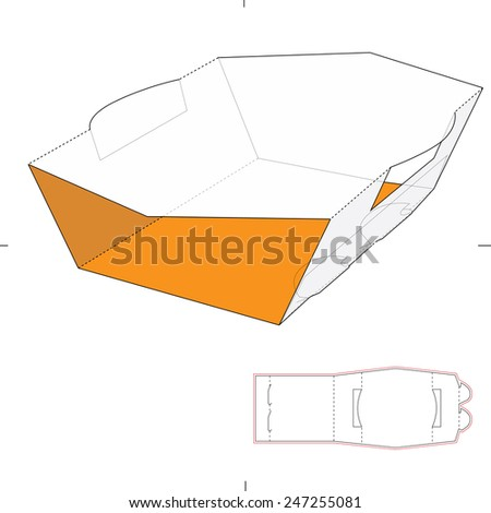 Royalty Free Stock Photos and Images: Sleeve Box with Die Cut ...