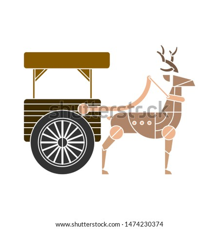 sleigh icon. flat illustration of sleigh vector icon. sleigh sign symbol