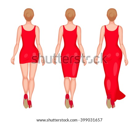 slender women dressed in red