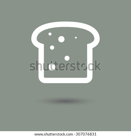 slice of bread icon in modern