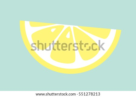 slice of lemon on blue