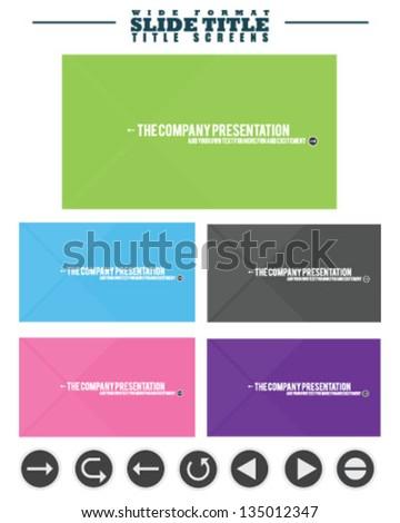 Slide and Presentation Title Screens