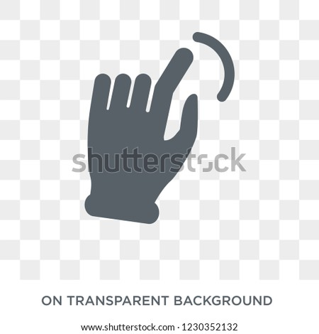 Slide to shrink  icon. Trendy flat vector Slide to shrink  icon on transparent background from Hands and guestures collection.