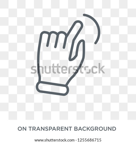 Slide to shrink  icon. Trendy flat vector Slide to shrink  icon on transparent background from Hands and guestures collection. High quality filled Slide to shrink  symbol use for web and mobile