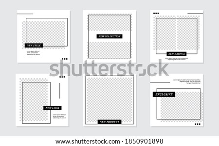 Slides Abstract Unique Editable Modern Social Media Banner Black Template. For personal & business. Anyone can use this design easily. Promotional web banner social media post feed.Vector Illustration