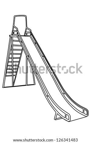 slides tube isolated