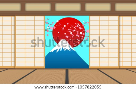 sliding door  japanese style