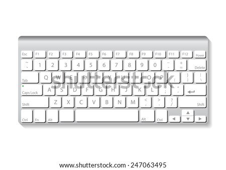 slim aluminum computer keyboard