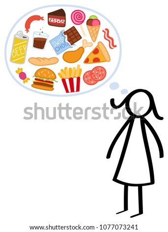 slim stick figure woman on a