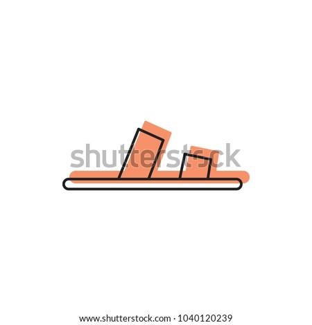 slipper icon doodle