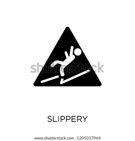 Slippery icon. Slippery symbol design from Cleaning collection. Simple element vector illustration on white background.