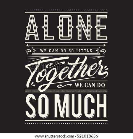slogan  alone together