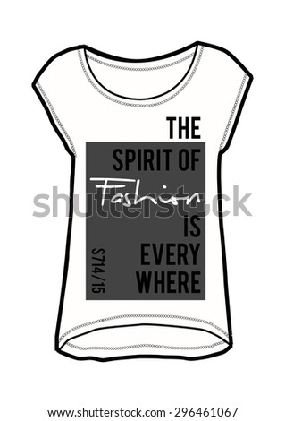 slogan fashion print in vector