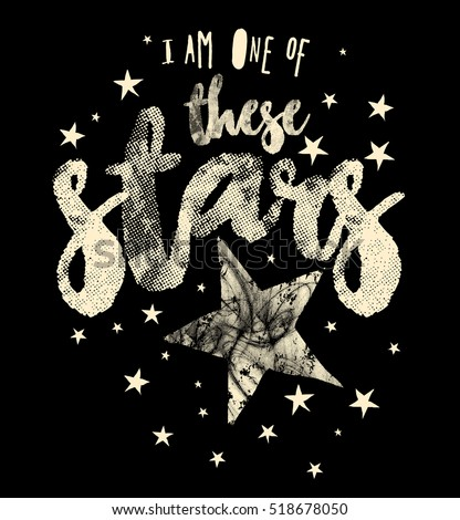 slogan graphics and stars for t ...