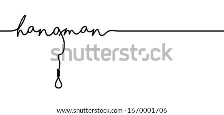 slogan hangman with strop  line
