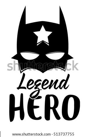 slogan hero vector printfor t