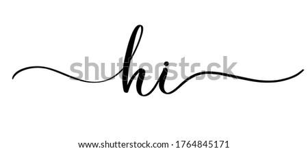 slogan hi with smooth lines