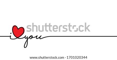 slogan i love you vector sign
