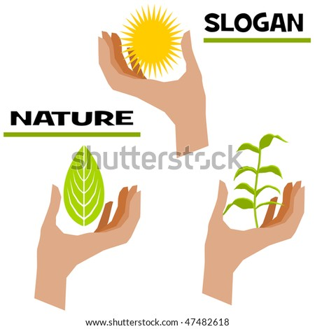 Save Environment Slogans in English http://www.shutterstock.com/pic-47482618/stock-vector-slogan-nature.html