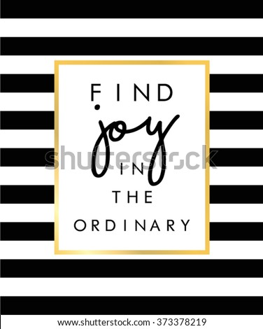 Slogan print on black and white stripe pattern