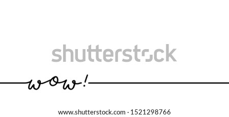 Slogan quote says omg or wow woo cool success successful amazed amazed surprised shocked new Vector icon icons sig signs fun funny comic line pattern draw drawing emotion emotional line pattern