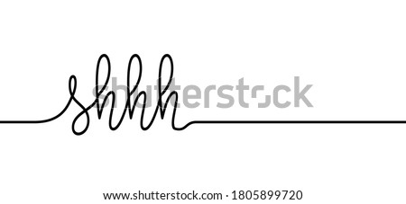 Slogan shhh sign. Stop, please be quiet icon (psssst ). Forbad, silence no speaking or no talking. Funny vector flat icons silhouette Silent finger over lips or mouth sign. Sound off quote.  Stock photo ©