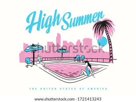 slogan text with summer theme