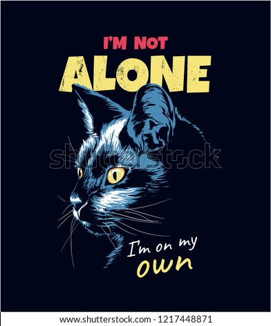 slogan with black cat
