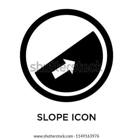Slope icon vector isolated on white background for your web and mobile app design, Slope logo concept