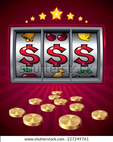 slot machine with dollar signs