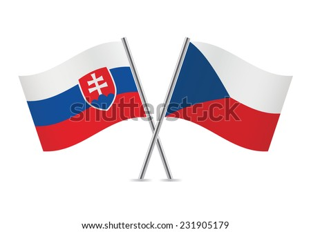 slovakia and czech flags