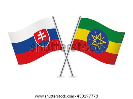 slovakia and ethiopian flags
