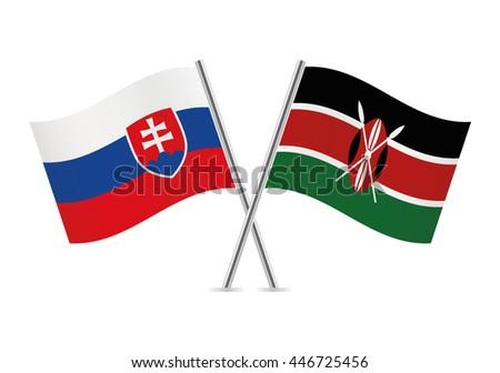 slovakia and kenyan flags