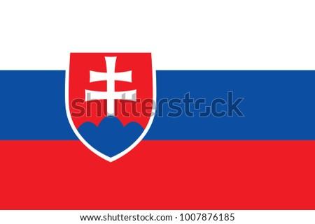 slovakia flag with official