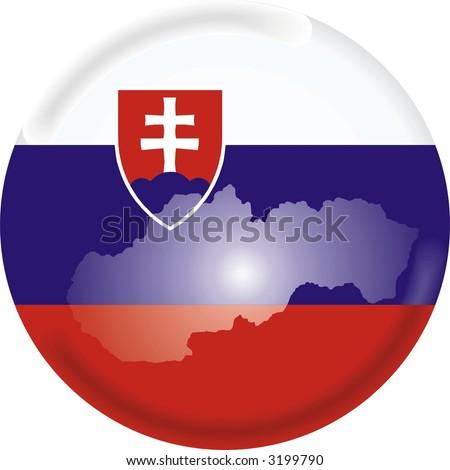 slovakia map and flag