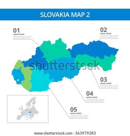 slovakia map template 2