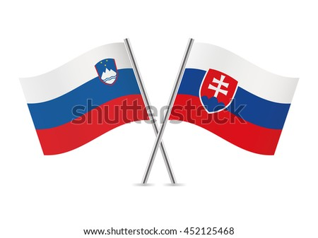 slovenia and slovakia flags