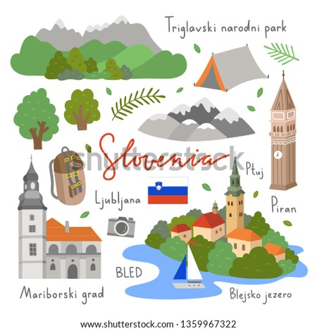 slovenia vector illustrations