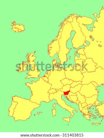 slovenia vector map  europe
