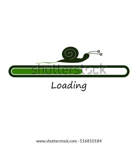 slow green progress loading bar