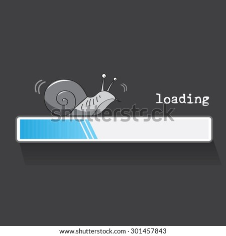 slow loading internet snail