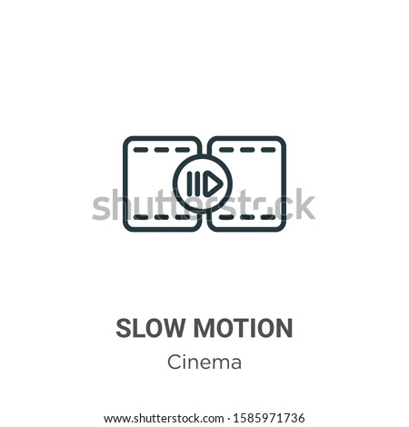 Slow motion outline vector icon. Thin line black slow motion icon, flat vector simple element illustration from editable cinema concept isolated on white background Photo stock ©