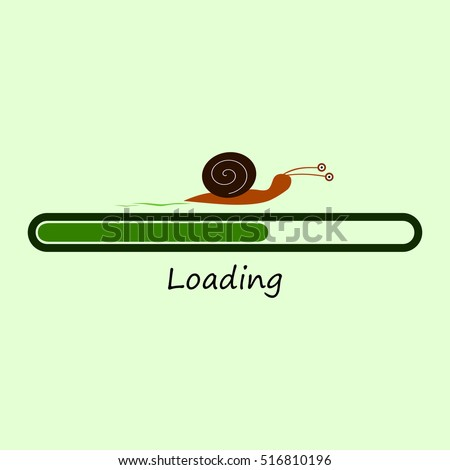 slow progress loading bar with