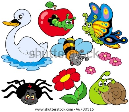 Small animals collection 9 - vector illustration.